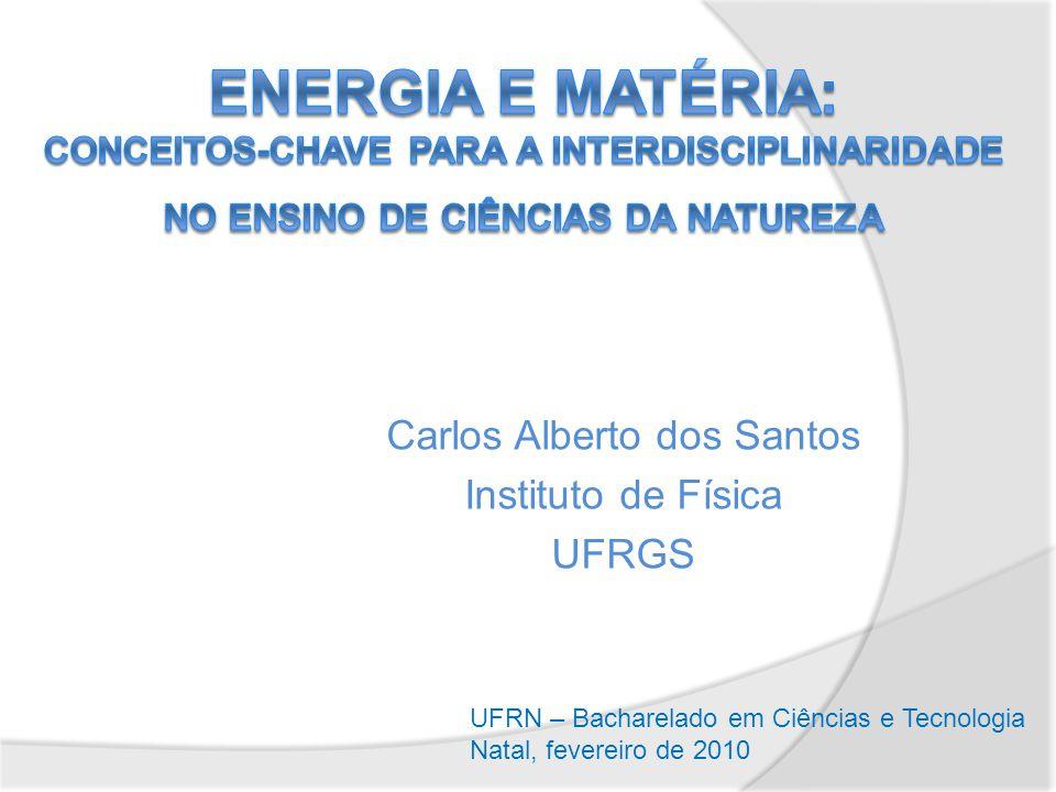 Carlos Alberto dos Santos Instituto de Física UFRGS UFRN – Bacharelado em Ciências e Tecnologia Natal, fevereiro de 2010