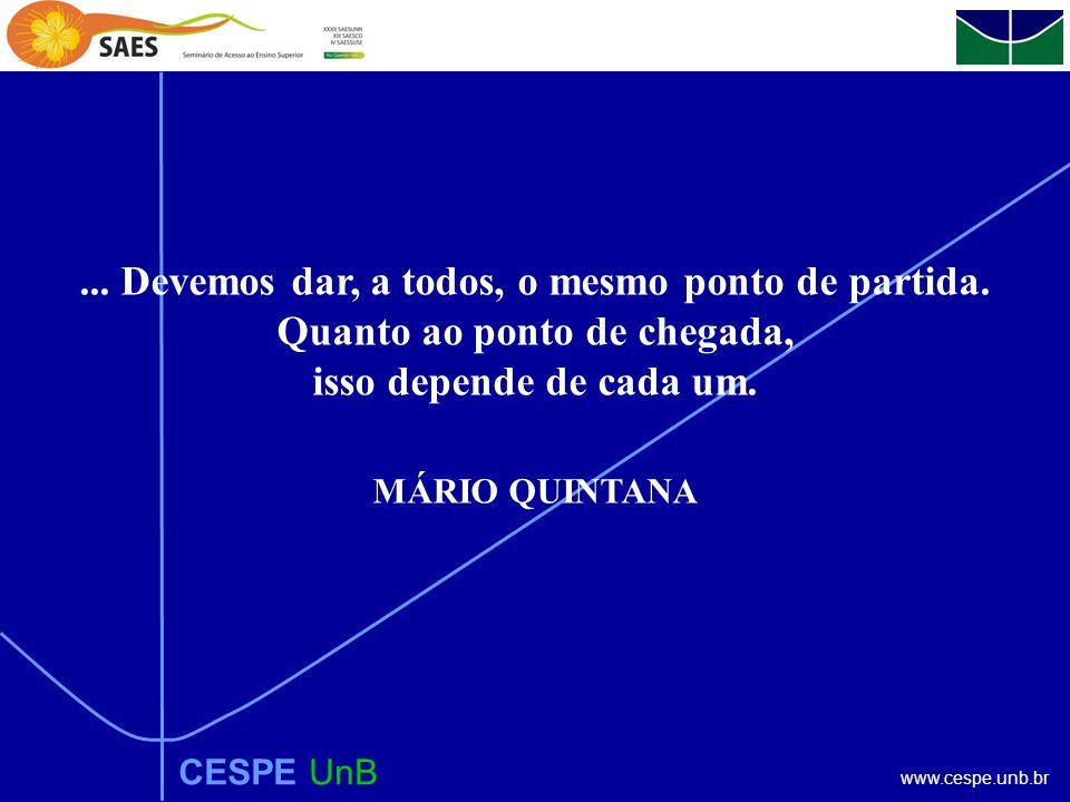www.cespe.unb.br CESPE UnB...Devemos dar, a todos, o mesmo ponto de partida.
