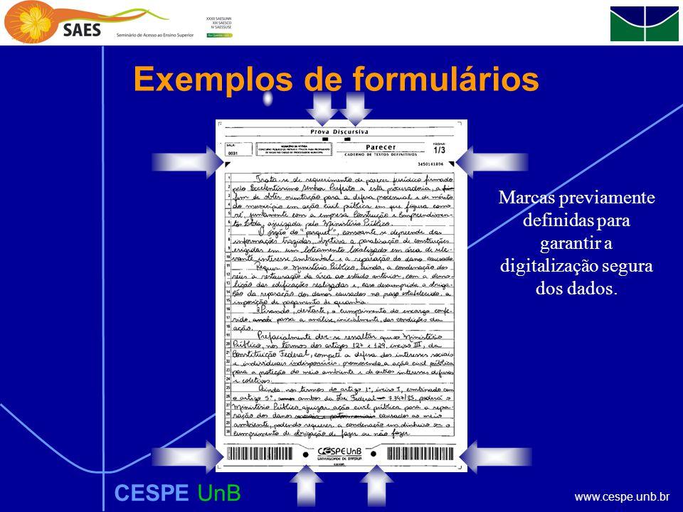 www.cespe.unb.br Preparação de material CESPE UnB Todo o material a ser utilizado pelo candidato é previamente confeccionado de forma que possa ser fu