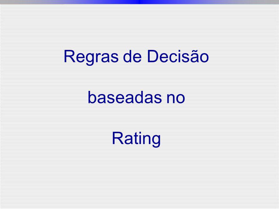 Regras de Decisão baseadas no Rating