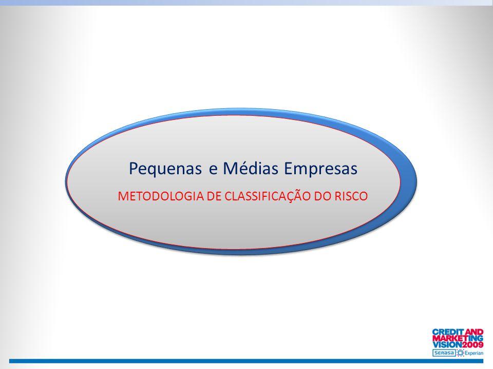 Pequenas e Médias Empresas METODOLOGIA DE CLASSIFICAÇÃO DO RISCO