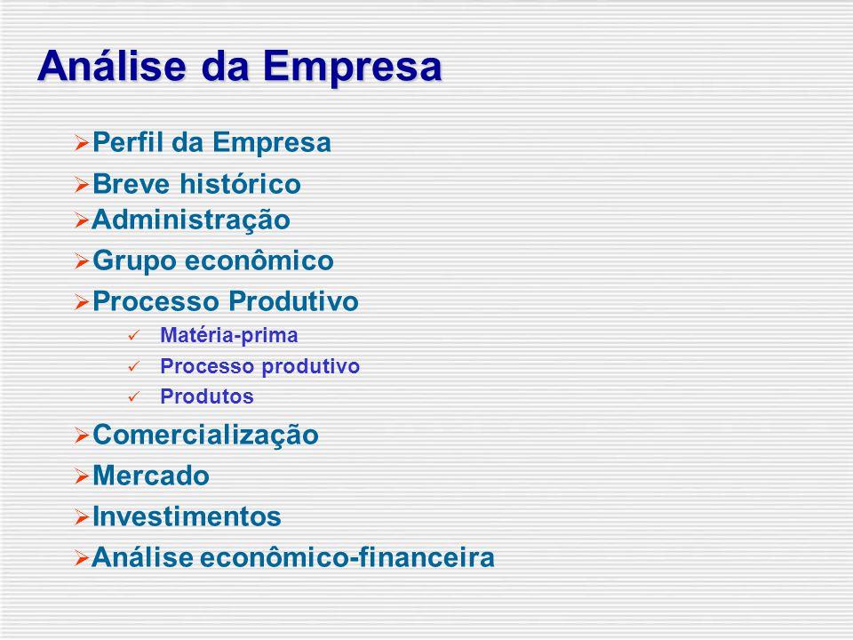 Análise da Empresa