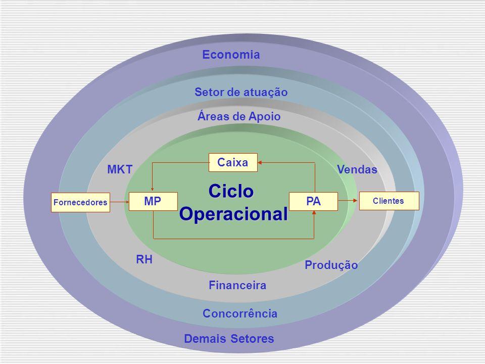Caixa MPPA Ciclo Operacional Operacional Fornecedores Clientes Áreas de Apoio Setor de atuação Concorrência Economia Demais Setores RH Financeira Produção VendasMKT