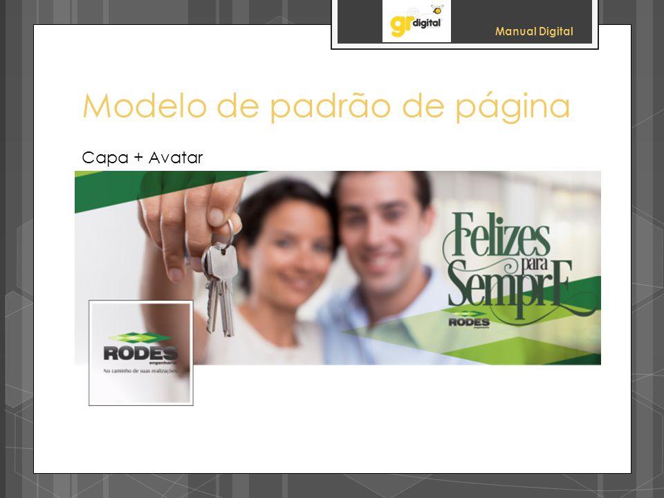 Manual Digital Modelo de padrão de página Capa + Avatar