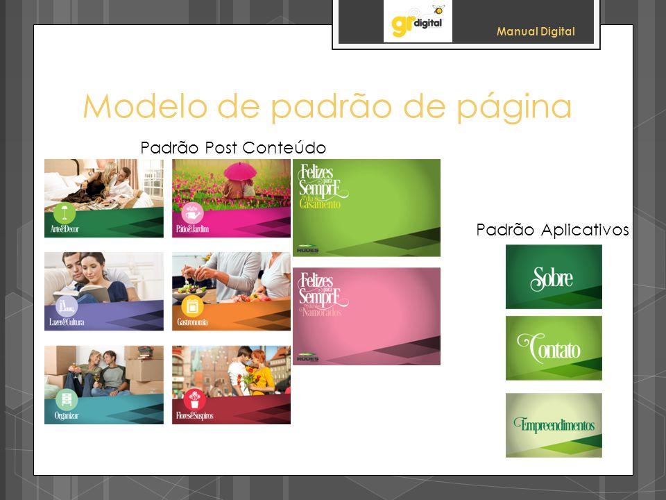 Manual Digital Modelo de padrão de página Padrão Post Conteúdo Padrão Aplicativos