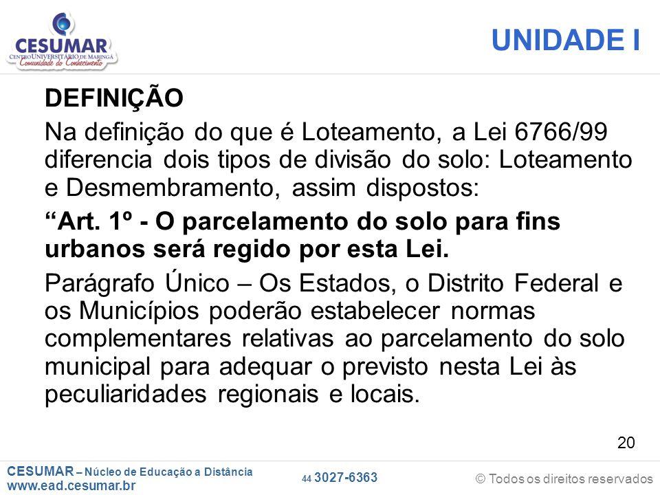 CESUMAR – Núcleo de Educação a Distância www.ead.cesumar.br © Todos os direitos reservados 44 3027-6363 20 UNIDADE I DEFINIÇÃO Na definição do que é L