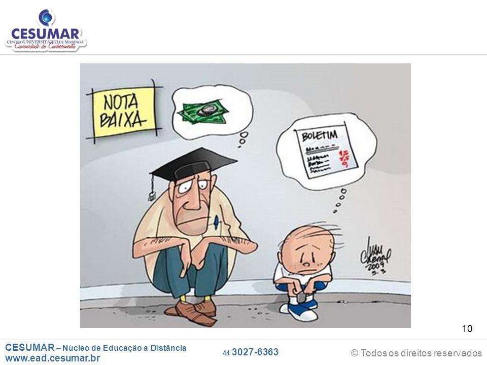 CESUMAR – Núcleo de Educação a Distância www.ead.cesumar.br © Todos os direitos reservados 44 3027-6363 10