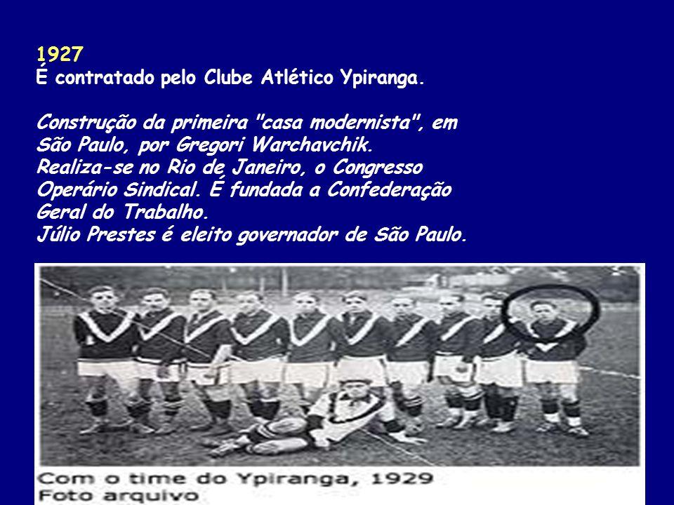 1927 É contratado pelo Clube Atlético Ypiranga.