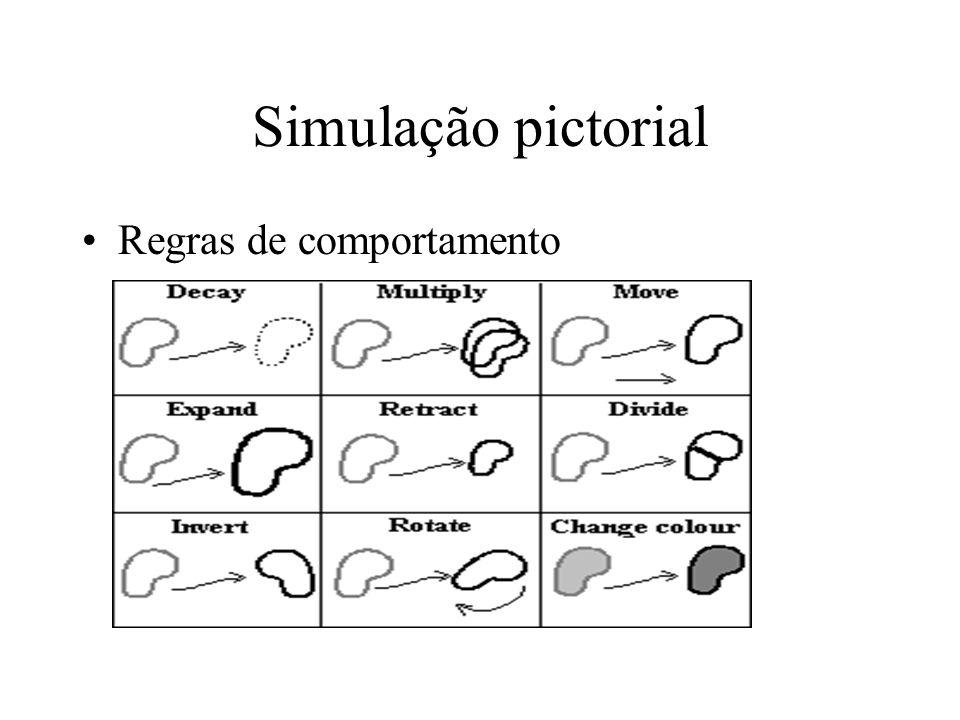 Simulação pictorial Regras de comportamento