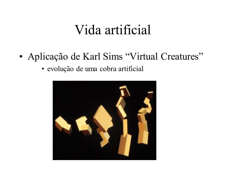 Vida artificial Aplicação de Karl Sims Virtual Creatures evolução de uma cobra artificial