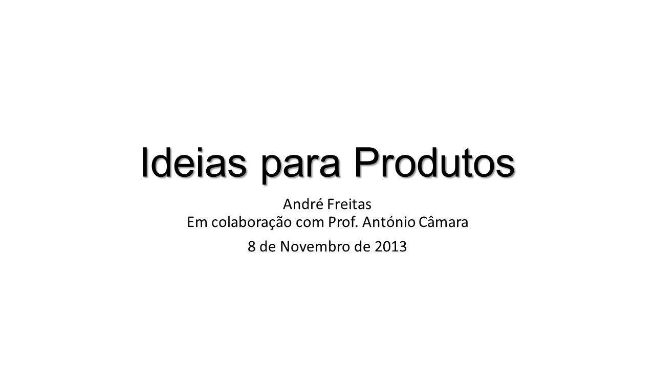 Ideias para Produtos André Freitas Em colaboração com Prof. António Câmara 8 de Novembro de 2013