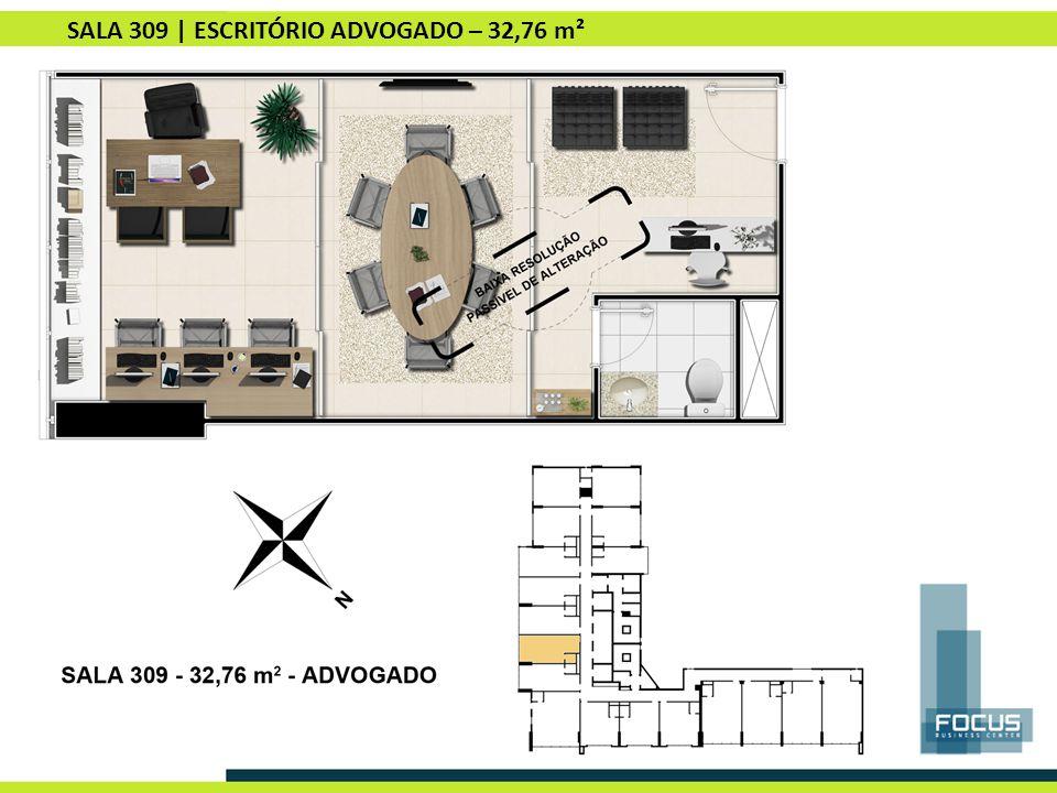 SALA 309 | ESCRITÓRIO ADVOGADO – 32,76 m²