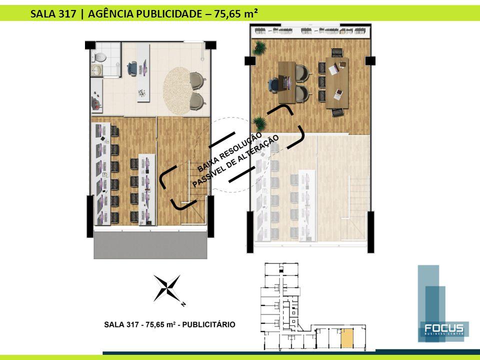 SALA 317 | AGÊNCIA PUBLICIDADE – 75,65 m²