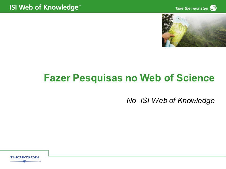 Fazer Pesquisas no Web of Science No ISI Web of Knowledge