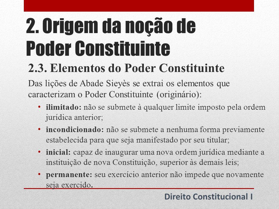 3.Poder Constituinte originário 3.1.