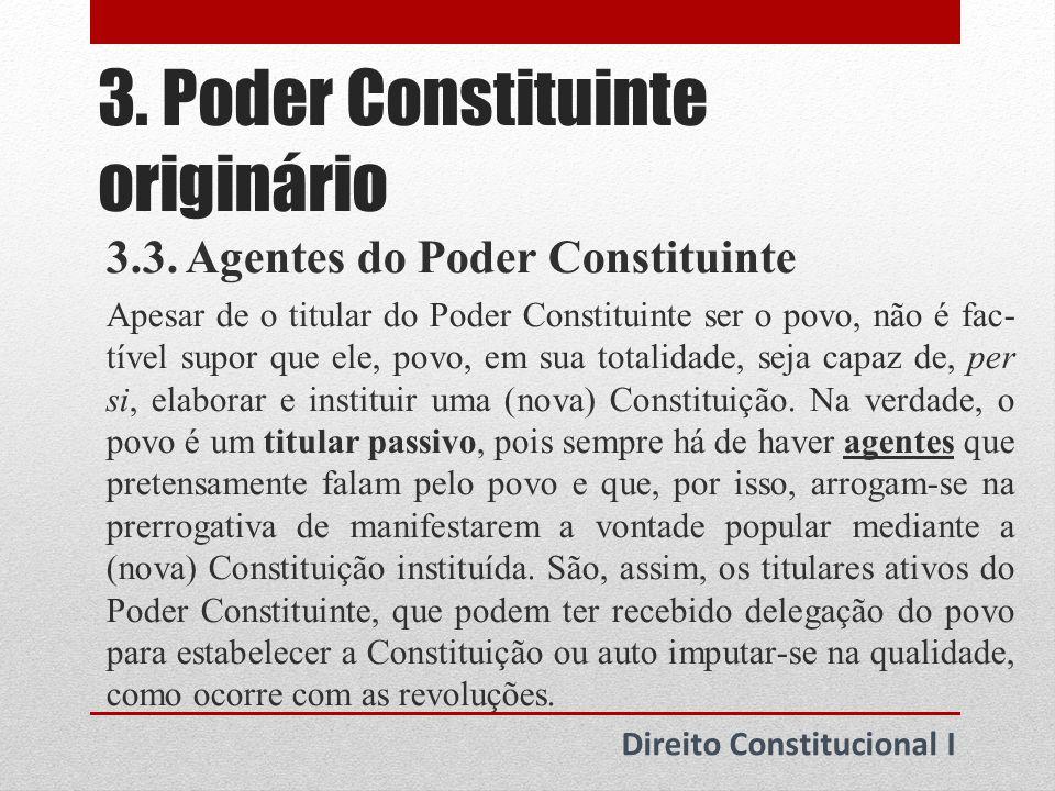 3.Poder Constituinte originário Direito Constitucional I 3.4.
