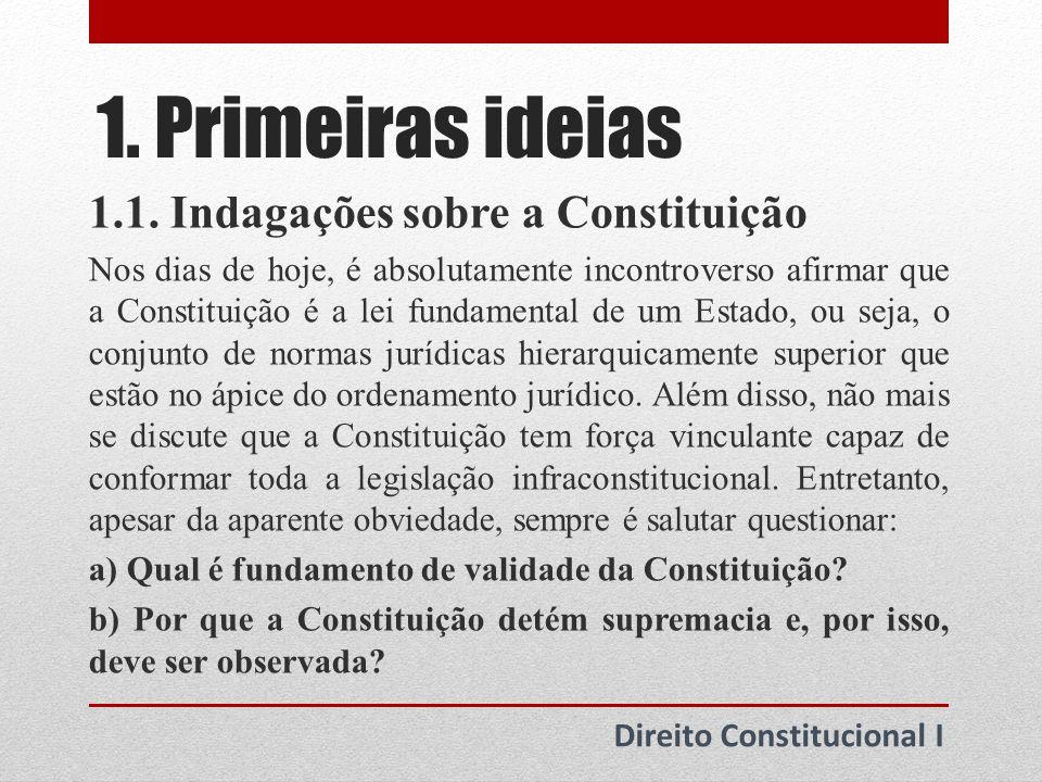 1.Primeiras ideias 1.2. Fundamento da Constituição 1.2.1.
