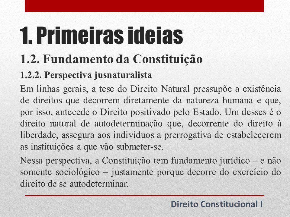 2.Origem da noção de Poder Constituinte 2.1.