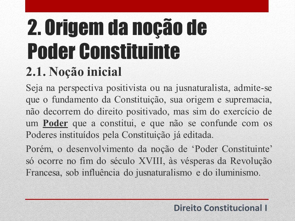 2.Origem da noção de Poder Constituinte 2.2.