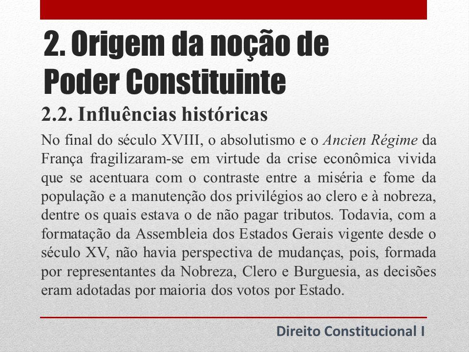 2.Origem da noção de Poder Constituinte 2.3.