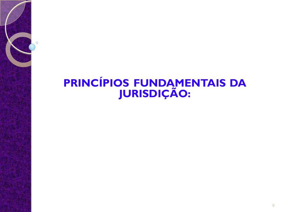 PRINCÍPIOS FUNDAMENTAIS DA JURISDIÇÃO: 9