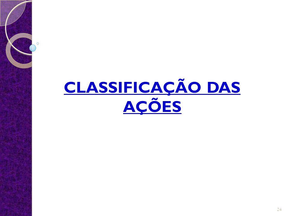 CLASSIFICAÇÃO DAS AÇÕES 24