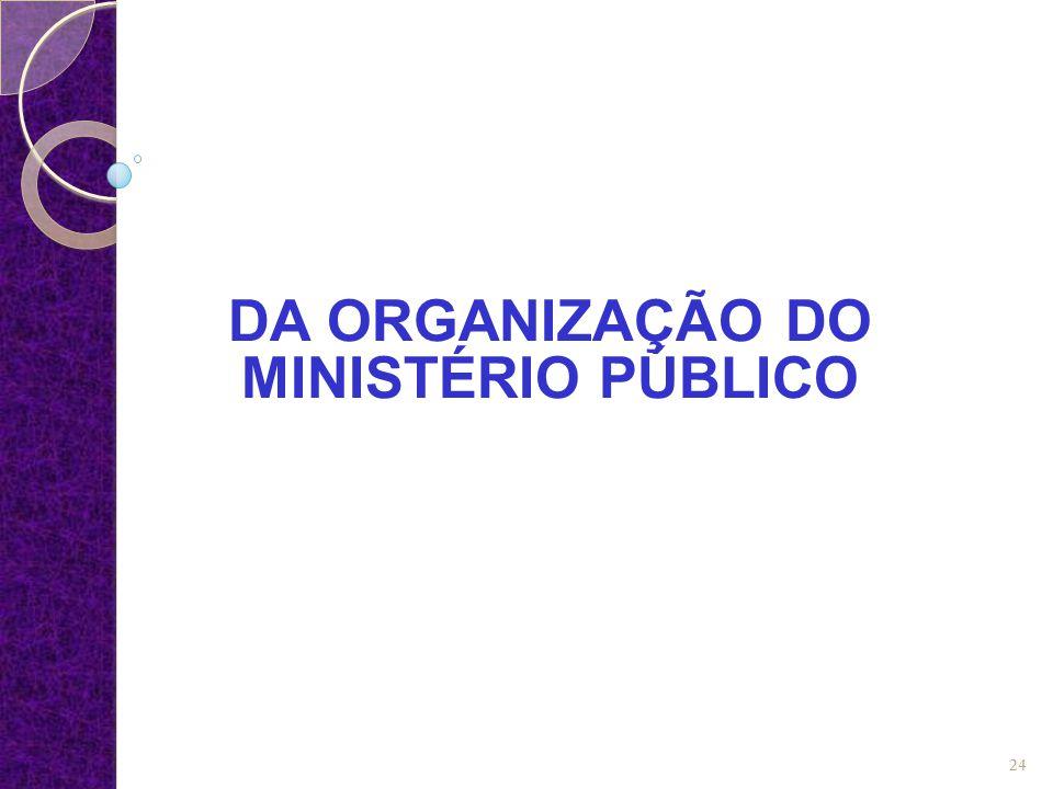 DA ORGANIZAÇÃO DO MINISTÉRIO PÚBLICO 24