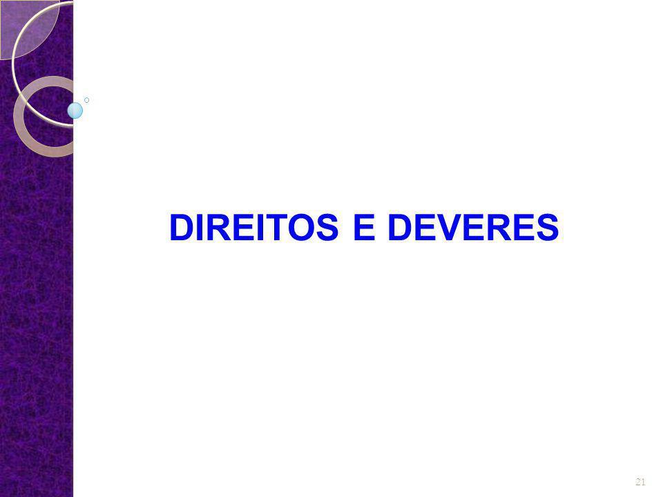 DIREITOS E DEVERES 21