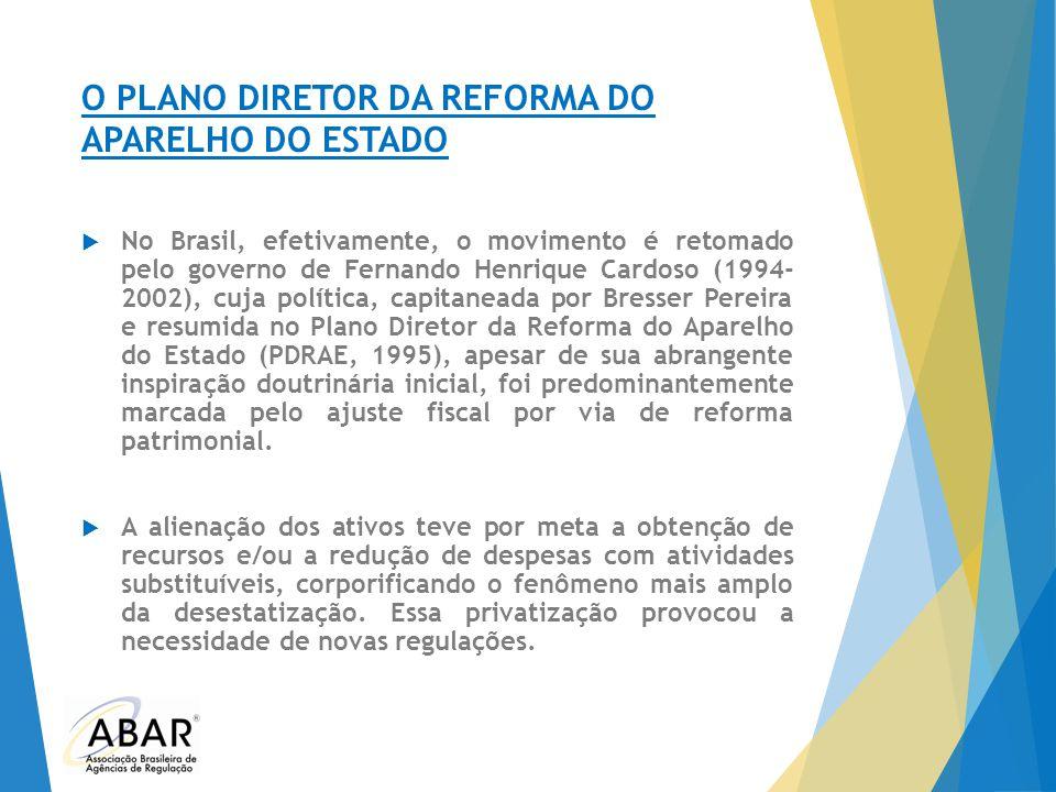 O PLANO DIRETOR DA REFORMA DO APARELHO DO ESTADO  No Brasil, efetivamente, o movimento é retomado pelo governo de Fernando Henrique Cardoso (1994- 20
