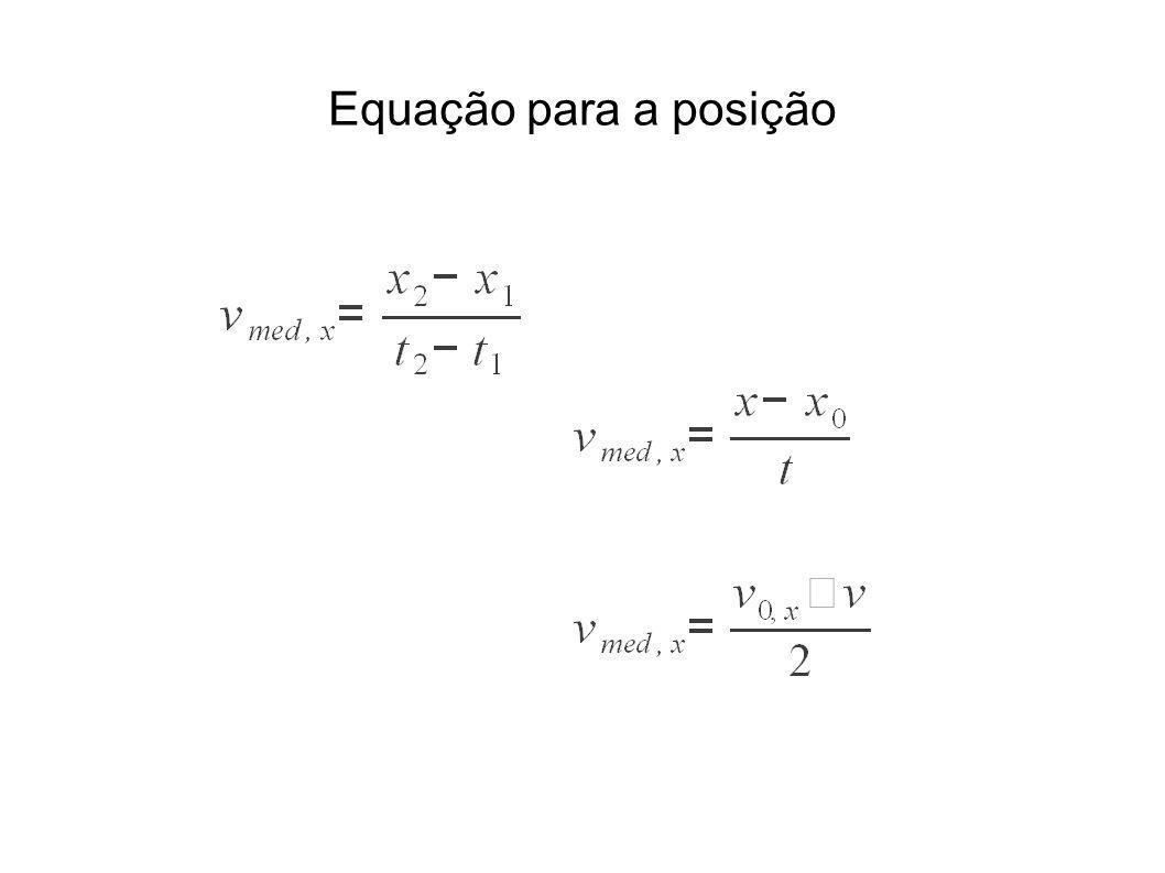 Equação para a posição