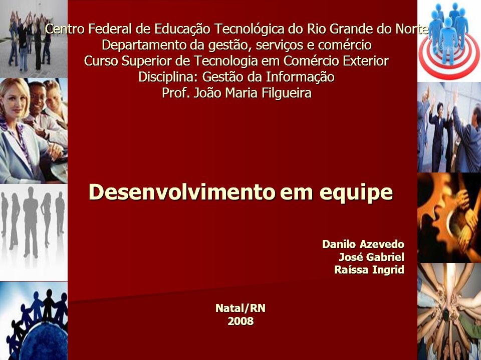 Centro Federal de Educação Tecnológica do Rio Grande do Norte Departamento da gestão, serviços e comércio Curso Superior de Tecnologia em Comércio Ext