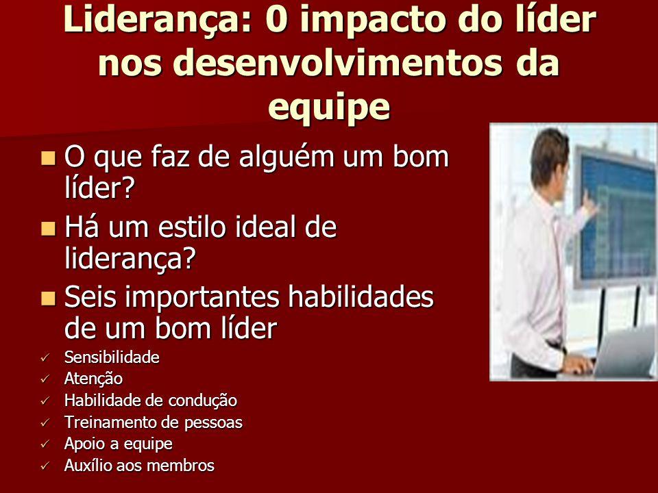 Liderança: 0 impacto do líder nos desenvolvimentos da equipe O que faz de alguém um bom líder? O que faz de alguém um bom líder? Há um estilo ideal de