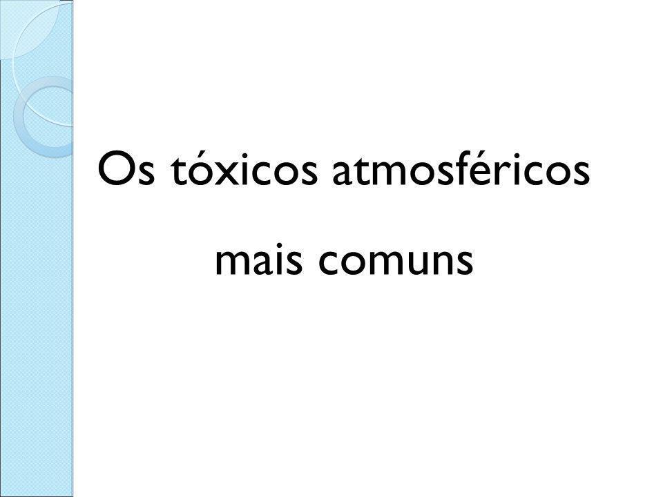Os tóxicos atmosféricos mais comuns