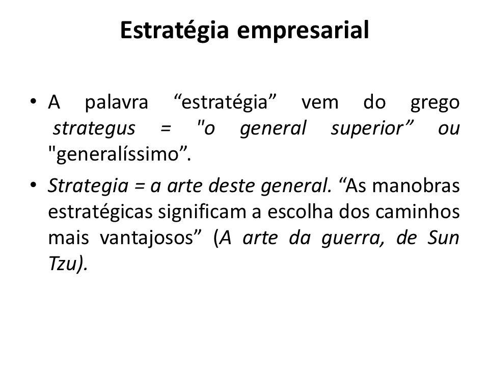 """Estratégia empresarial A palavra """"estratégia"""" vem do grego strategus ="""