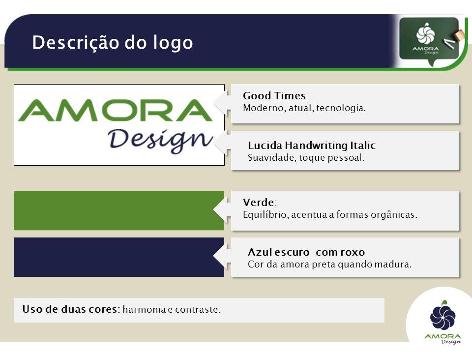 Descrição do logo Good Times Moderno, atual, tecnologia.