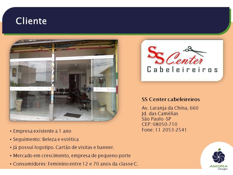 Cliente SS Center cabeleireiros Av. Laranja da China, 660 Jd.