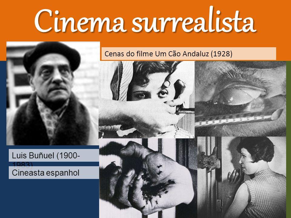 Cinema surrealista Luis Buñuel (1900- 1983) Cineasta espanhol Cenas do filme Um Cão Andaluz (1928)