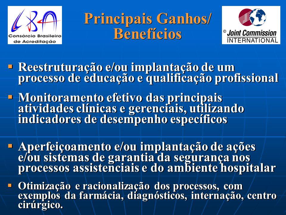 13 Principais Ganhos/ Benefícios   Clara definição da missão institucional e perfil assistencial   Abrangência a todos os departamentos e serviços