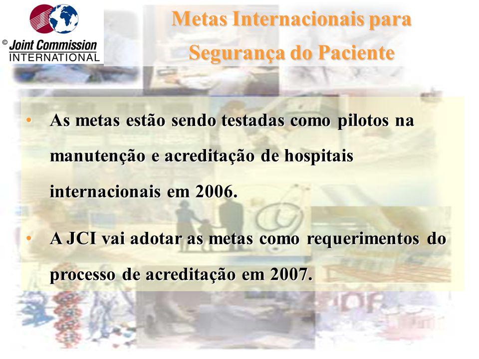 Novos Elementos do Programa de Acreditação Internacional