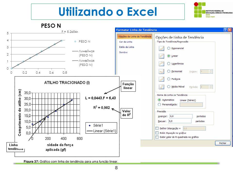 8 Utilizando o Excel
