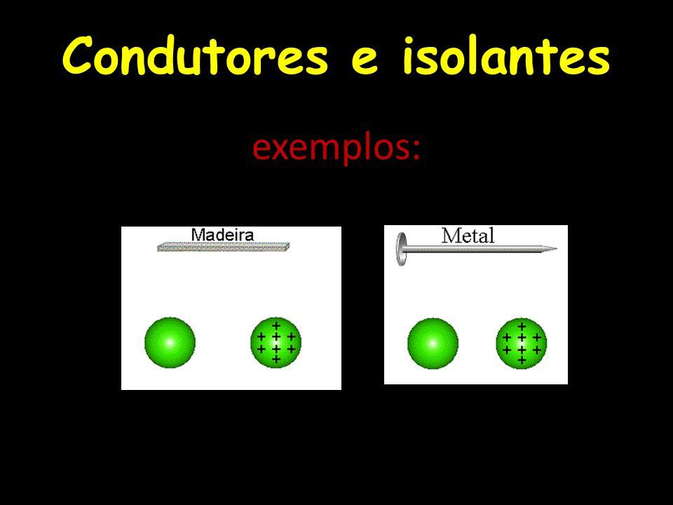 Isolantes Muitos elétrons na última camada são isolantes.