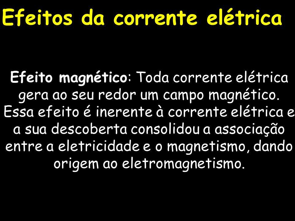 Efeito luminoso: Esse efeito resulta também de um fenômeno elétrico molecular.