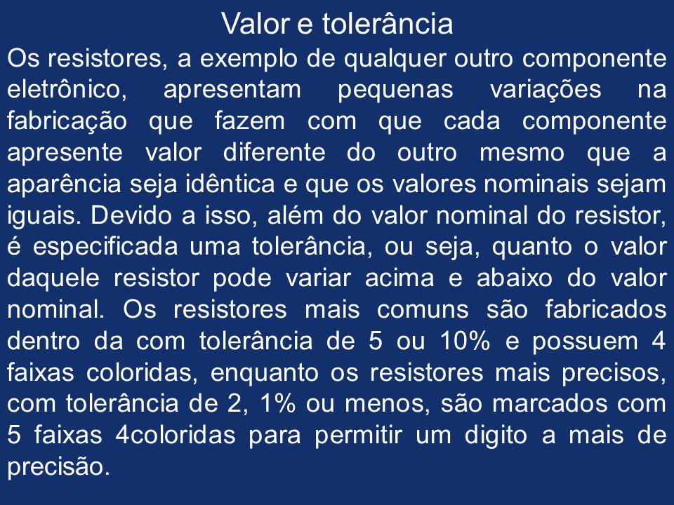 TABELA DE CORES DOS RESISTORES