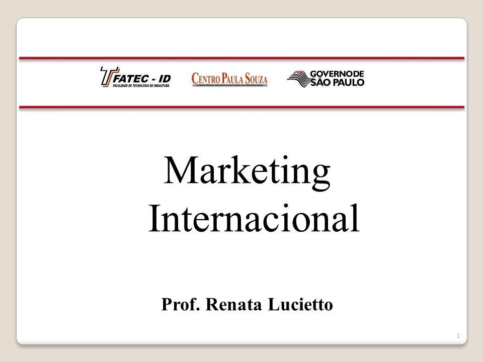 Marketing Internacional Prof. Renata Lucietto 1