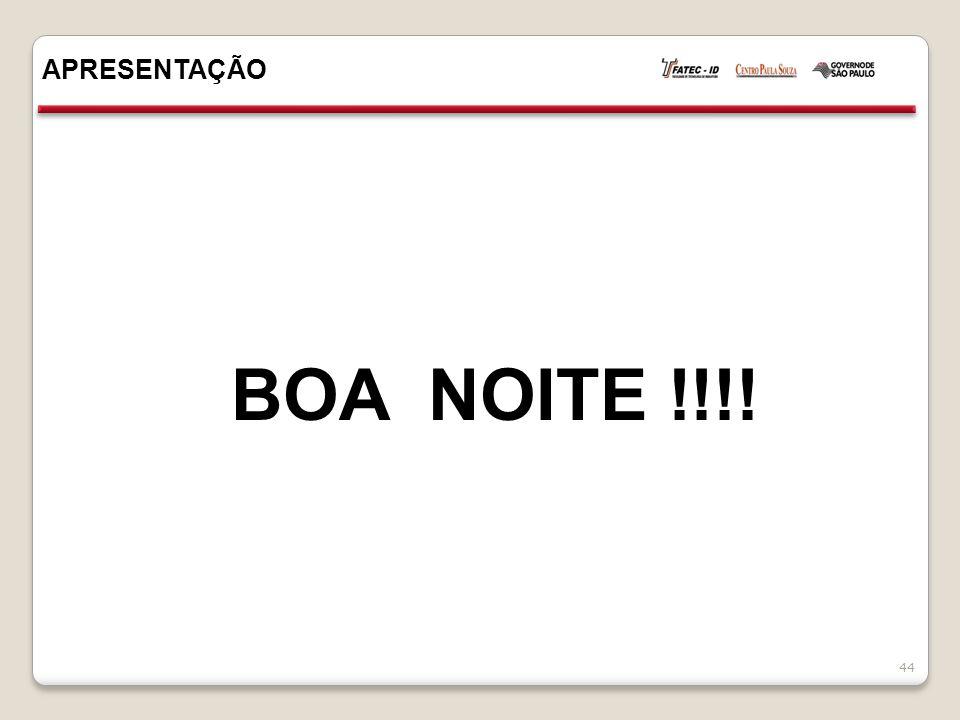APRESENTAÇÃO 44 BOA NOITE !!!!