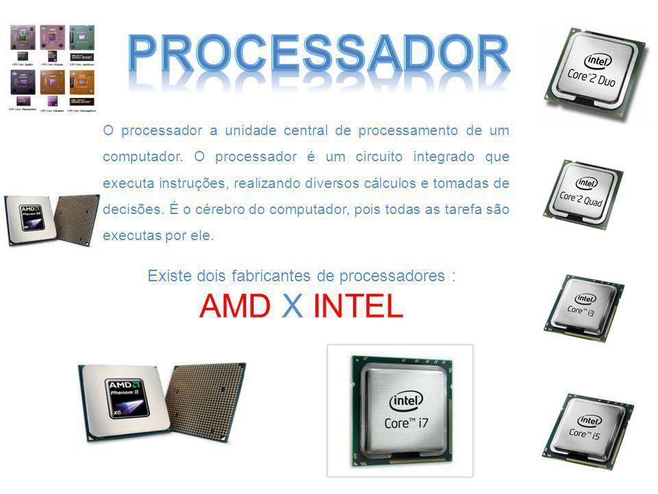 Memória Cache A memória cache consiste em uma pequena quantidade de memória SRAM embutida no processador.
