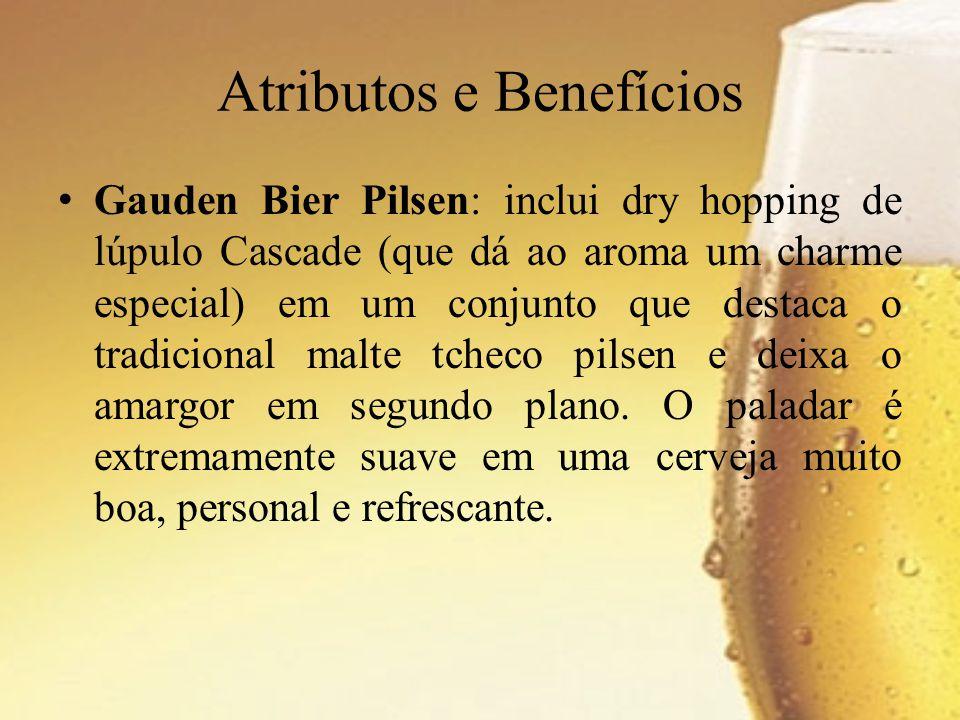 Gauden Bier Pilsen: inclui dry hopping de lúpulo Cascade (que dá ao aroma um charme especial) em um conjunto que destaca o tradicional malte tcheco pi