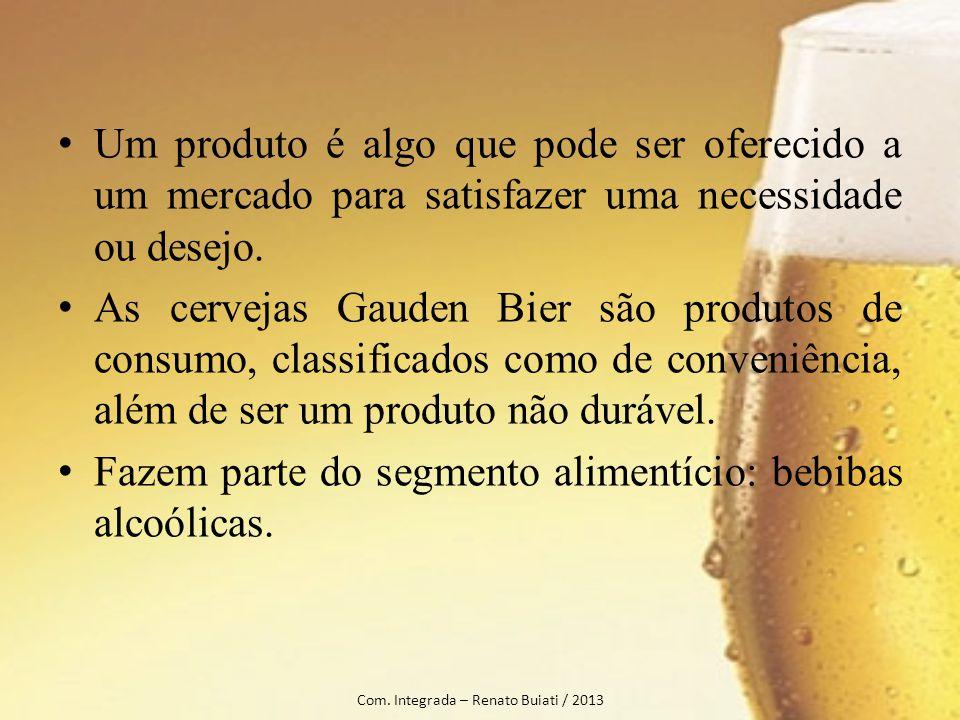 Um produto é algo que pode ser oferecido a um mercado para satisfazer uma necessidade ou desejo. As cervejas Gauden Bier são produtos de consumo, clas