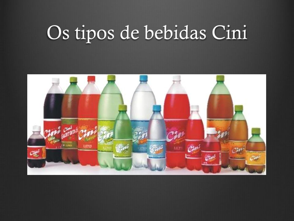Os tipos de bebidas Cini