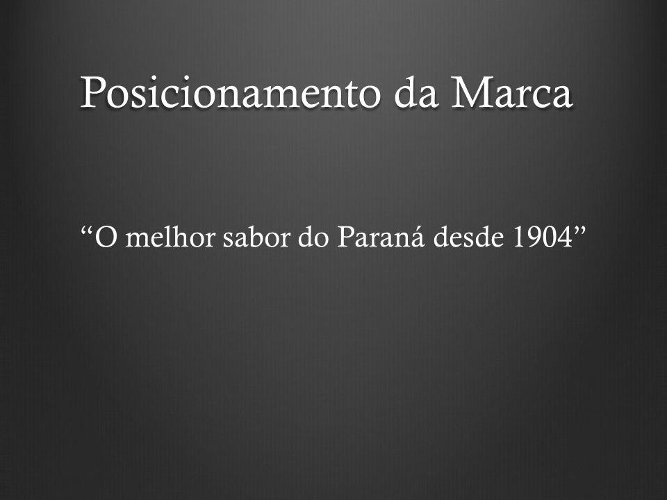 """Posicionamento da Marca """"O melhor sabor do Paraná desde 1904"""""""